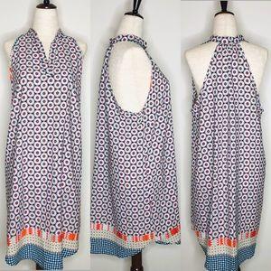 Fraiche Paisley Print Halter Swing Dress